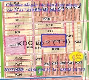 Cần mua đất gần chợ khu K mỹ phước 3, các lô k17,k19,k20 mỹ phước 3