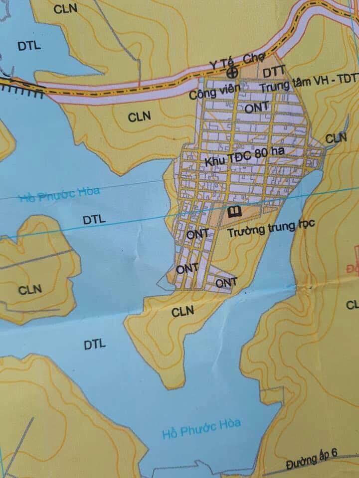 Bản đồ quy hoạch khu tái định cư nha bíc