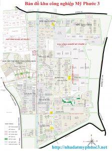 bản đồ khu công nghiệp mỹ phước 3