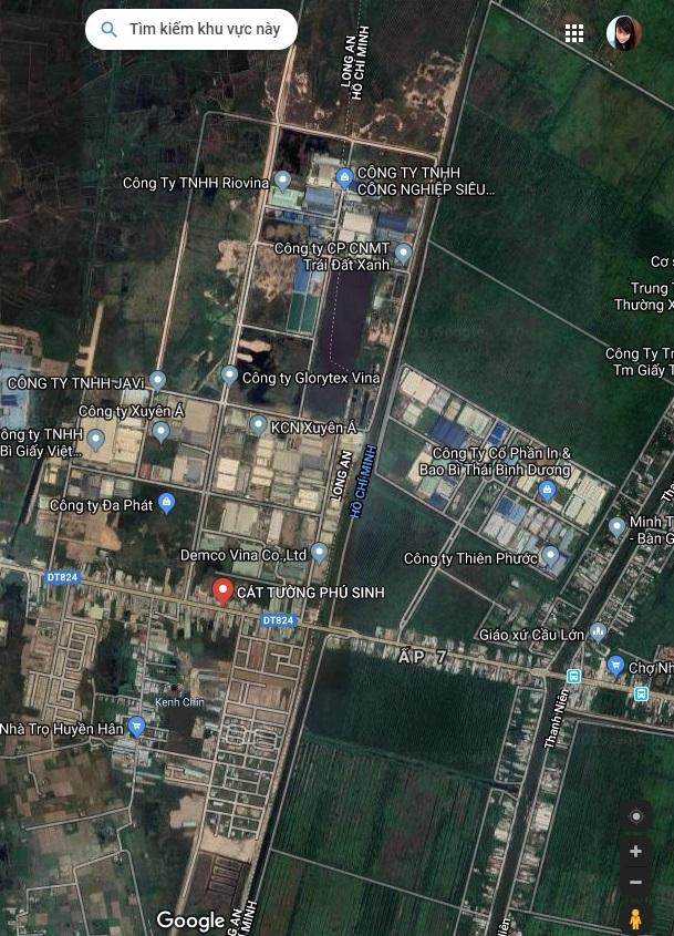 Sơđồtổng thể vệ tinh dự ánCÁT TƯỜNG PHÚ SINH